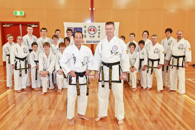 Master Chong Chul Rhee with Master Aaron Abell